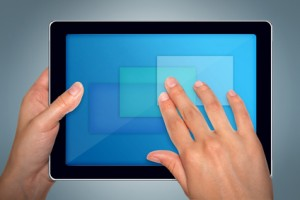Apple IPAD used as a reader for patients with macular degeneration.